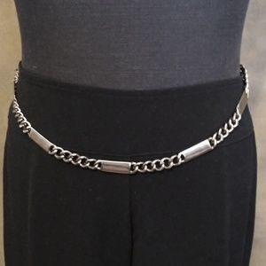 Accessories - Vintage 1990's Silver Plated Hanging Chain Belt